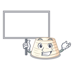 Bring board ricotta cheese icon in character vector