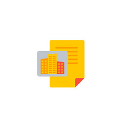 building project icon flat element vector image