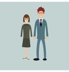 Business people - man and woman - dressed in suits vector