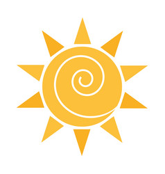 cartoon sun weather sky flat icon vector image