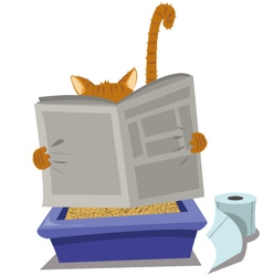 Cat and Litterbox vector image