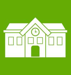 chapel icon green vector image