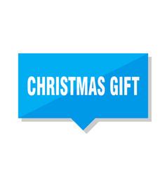 christmas gift price tag vector image