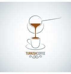 coffee cup turkish recipe background vector image vector image