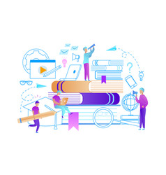 collective studying characters exam preparation vector image