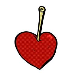 Comic cartoon heart cherry vector
