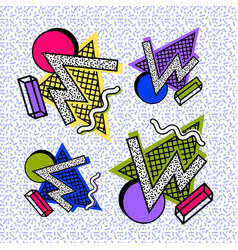 composition figures 80s vector image