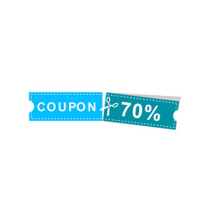 coupons discount banner 70 offers vector image