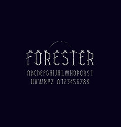 Decorative geometric serif font vector