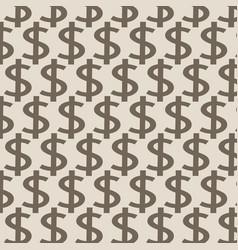 dollar pattern background vector image