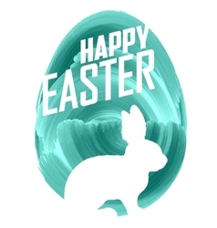 Easter bunny on watercolor background vector