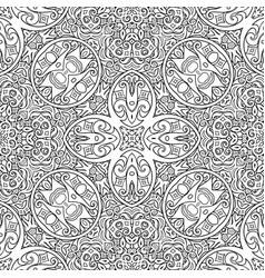 ethnic line art hand drawn background vector image