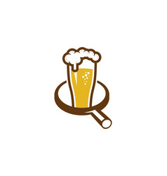 Find beer logo icon design vector