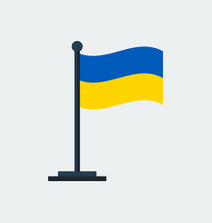 flag of ukraineflag stand vector image