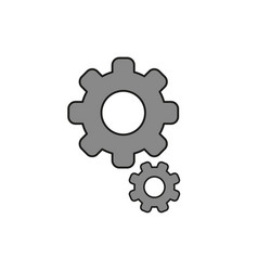 flat design style of gears icon on white colored vector image
