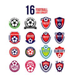 Football club logo set template design vector