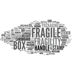 Fragility word cloud concept vector