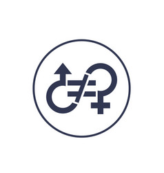 Gender inequality icon sign vector