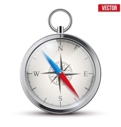Glossy Bright Vintage Compass vector image