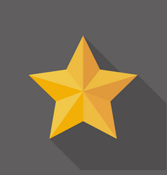 Golden star icon in flat style vector