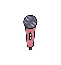 grated microphone object to sing karaoke music vector image