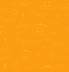 Halloween background pattern vector