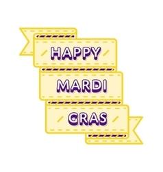Happy Mardi Gras greeting emblem vector image