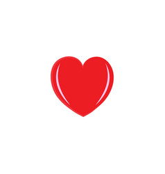 heart isolated red sign on white background vector image