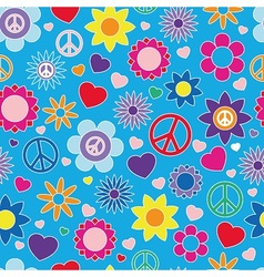 Hippie summer pattern vector image