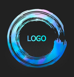 holographic round design templates for for poster vector image