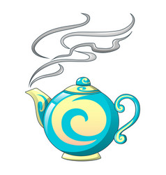 hot tea pot icon cartoon style vector image