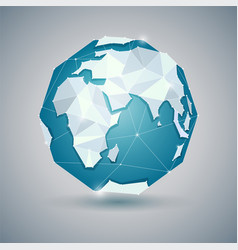 icon of globe or earth planet vector image
