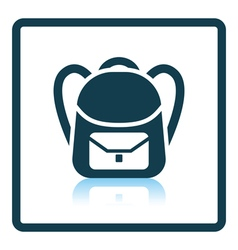 Icon of School rucksack vector