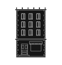 Isolated object house and residence icon vector