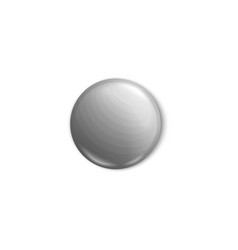 light grey button pin isolated on white background vector image