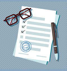 Loan application form document isolated vector