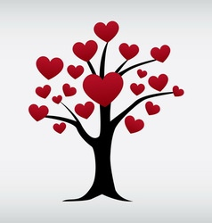 Love tree isolated vector