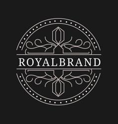 Luxury logo design template victorian vignettes vector