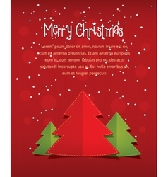 merry christmas card with text red vector image
