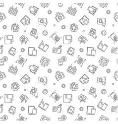 Mobile app development outline seamless vector