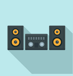 Modern stereo system icon flat style vector