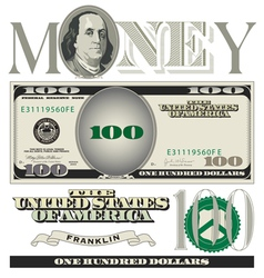 money 100 dollars vector image