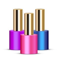 Nail polishes vector