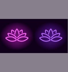 neon purple and violet lotus vector image