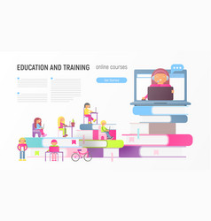 online courses vector image