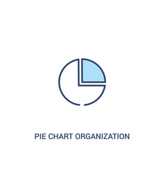 pie chart organization concept 2 colored icon vector image