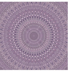 Psychedelic mandala ornament background - round vector
