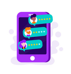 Rate our app flat concept vector