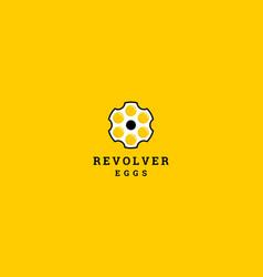 revolver egg logo design concept vector image