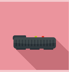 robot vacuum cleaner icon flat style vector image